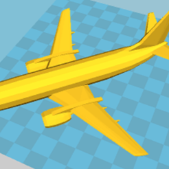 Download 3D printer model PASSENGER PLANE, martin_dupu