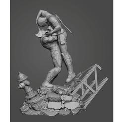 Download STL file Wolverine vs DeadPool • 3D printable design, noob3d2019