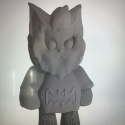 "Descargar archivo 3D Amigo peludo ""Murciélago"", mercilessjones"
