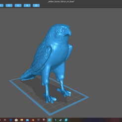 falcon2.png Download OBJ file Egyptian Atelier Falcon at Louvre • 3D printer object, mercilessjones
