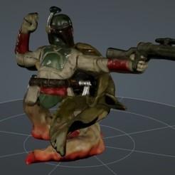 Télécharger fichier 3D gratuit Boba Fett .STL .OBJ Buste Star Wars 3D, mercilessjones