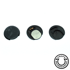 socle_25mm_LED_.png Download STL file Wargame base battery holder and resistor for LEDs • 3D printing object, UldaricBoardgamingProps