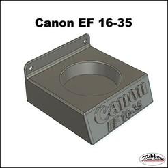 Lensholder_Canon_EF16-35_01.jpg Télécharger fichier STL Porte-objectif Canon EF 16-35 • Modèle à imprimer en 3D, TobbesCustomDesign