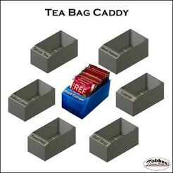 Tea_Bag_Caddy_Collection_01_.jpg Télécharger fichier STL gratuit Collection de sachets de thé • Modèle pour imprimante 3D, TobbesCustomDesign
