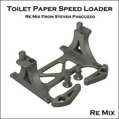 Toiletpaperspeedloader_splitted.jpg Télécharger fichier STL gratuit Chargeur rapide de papier hygiénique - Pièces détachées • Objet à imprimer en 3D, TobbesCustomDesign