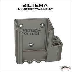 Biltema_multimeter_holder_01.jpg Download free STL file Multimeter Holder BILTEMA • Model to 3D print, TobbesCustomDesign