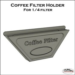 Coffeefilterholder.jpg Download free STL file Coffee filter holder 1x4 • 3D print design, TobbesCustomDesign