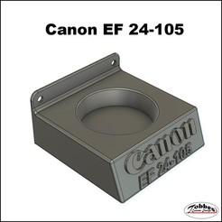 Lensholder_Canon_EF24-105_01.jpg Télécharger fichier STL Porte-objectif Canon EF 24-105 • Modèle pour impression 3D, TobbesCustomDesign