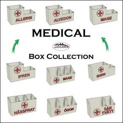 Medicin_1.jpg Télécharger fichier STL gratuit Collection de boîtes médicales • Modèle pour imprimante 3D, TobbesCustomDesign