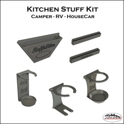 Kitchen_stuff_kit_00.jpg Download free STL file Kitchen stuff for RV and Camper • Model to 3D print, TobbesCustomDesign