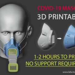Download free 3D printer designs Covid mask, rusenaydin52