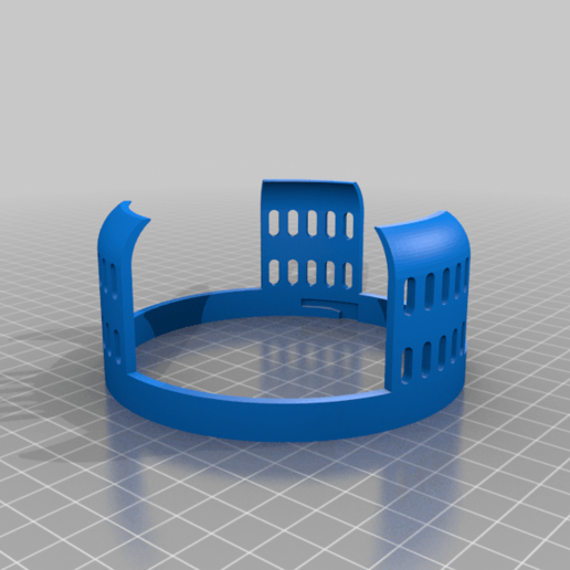 Oberteil.png Download free STL file Echo Dot 3 - Battery operation 18650 • Template to 3D print, CoffeCup