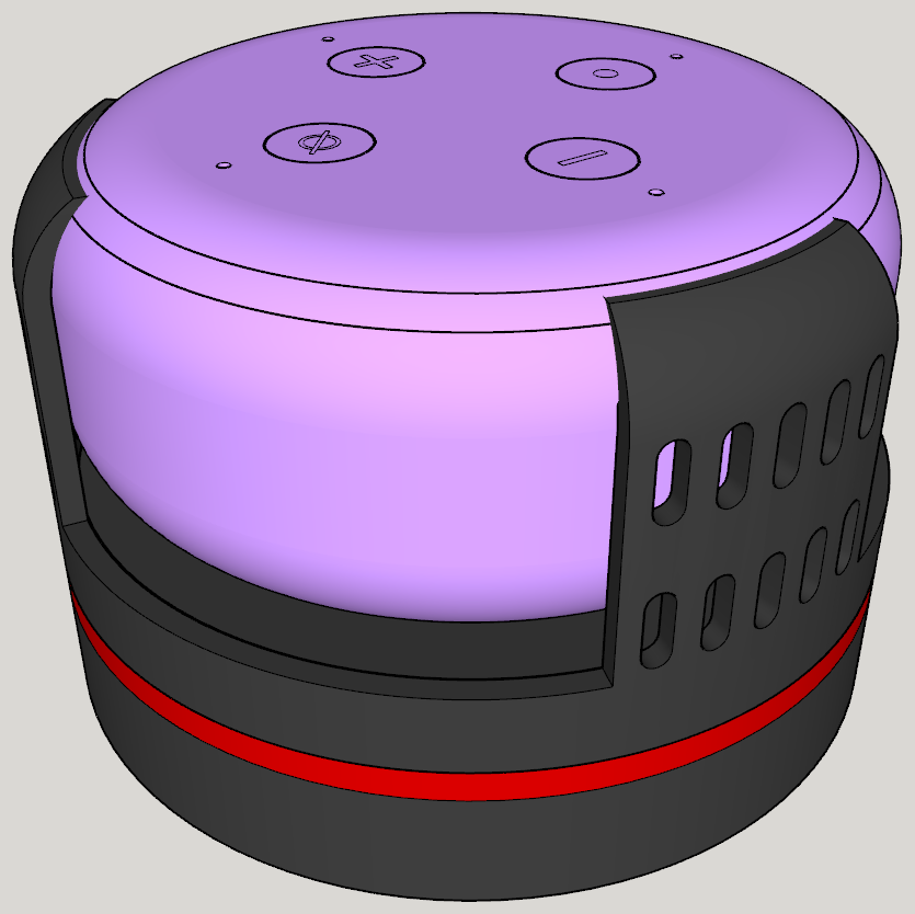 Ansicht_4.PNG Download free STL file Echo Dot 3 - Battery operation 18650 • Template to 3D print, CoffeCup