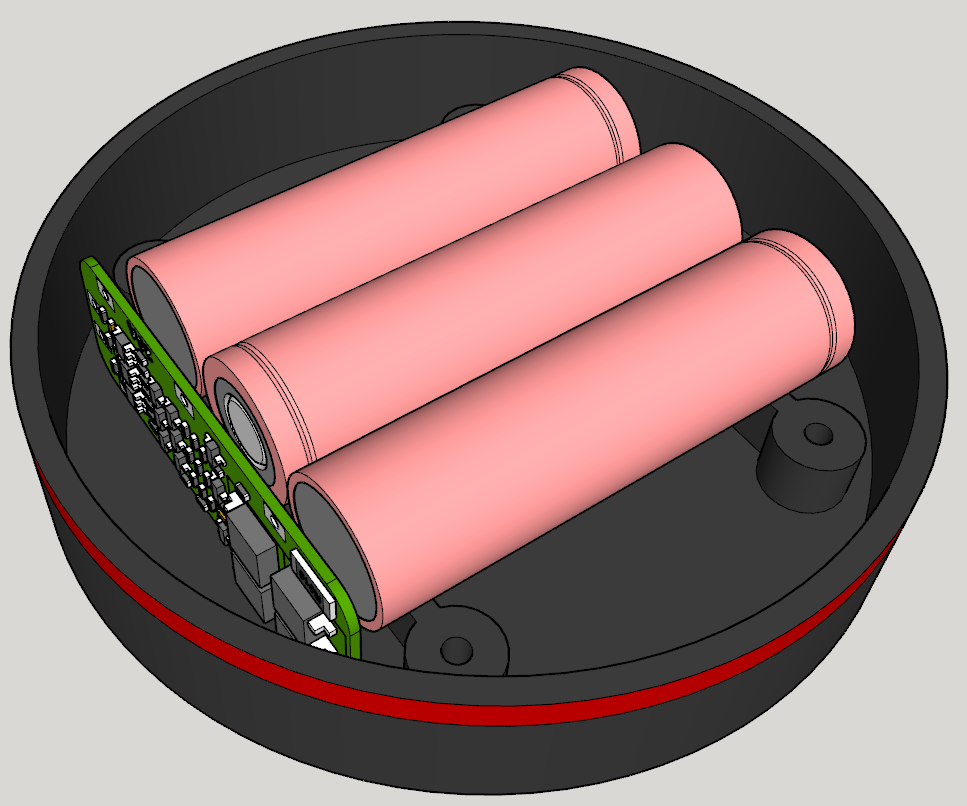 Ansicht_2.PNG Download free STL file Echo Dot 3 - Battery operation 18650 • Template to 3D print, CoffeCup