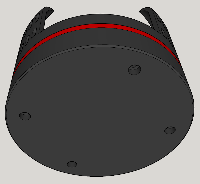 Ansicht_3.PNG Download free STL file Echo Dot 3 - Battery operation 18650 • Template to 3D print, CoffeCup