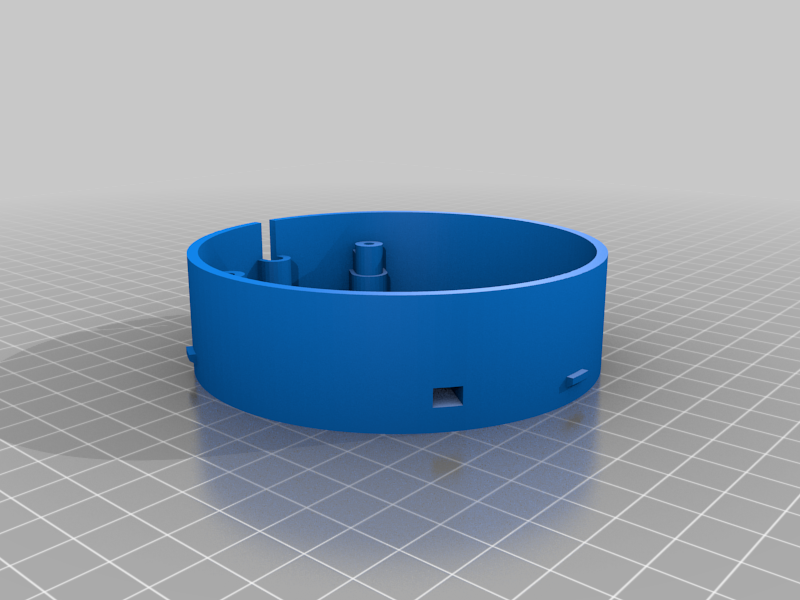 mittelteil.png Download free STL file Echo Dot 3 - Battery operation 18650 • Template to 3D print, CoffeCup