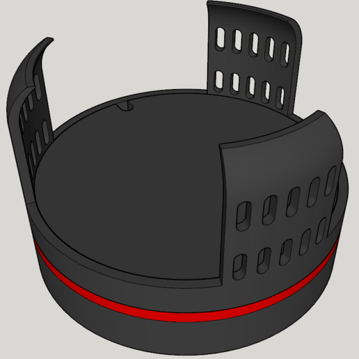 Ansicht_1.PNG Download free STL file Echo Dot 3 - Battery operation 18650 • Template to 3D print, CoffeCup