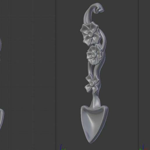 Download free 3D printing designs Flower_Spoon, Emmo3D