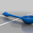 Download free STL file Flower_Soup_Spoon • 3D printable model, Emmo3D