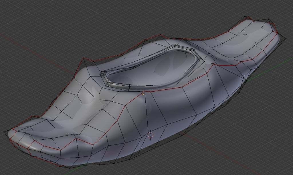 playboatfor3Dprintingpic3.jpg Download free 3DS file playboat( Piranha 420 Kayak) • 3D printer template, Emmo3D