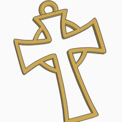 cruz 2.jpg Download STL file Pendant to necklace in the shape of a cross  • 3D print model, helderbernardo