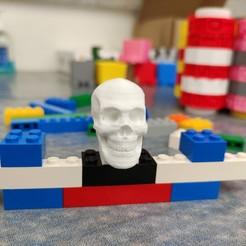 Download STL Lego Skulls - 3 bricks for real use, helderbernardo