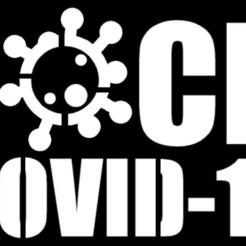 Download 3D printer files Fuck Covid-19 - Stencil, helderbernardo