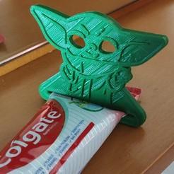 Télécharger fichier impression 3D Presse-dentifrice Baby Yoda, helderbernardo