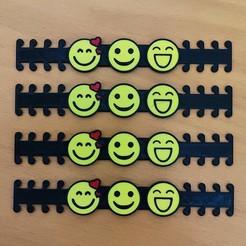 smiles - 4.jpg Télécharger fichier STL EMOTICONS, Sourires - ÉCOUTEURS D'OREILLE - Sangle de masque • Objet à imprimer en 3D, helderbernardo