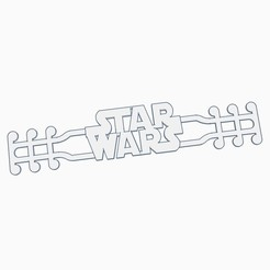 starwars.jpg Download STL file Star Wars - EAR SAVER - MASK STRAP • 3D printing template, helderbernardo