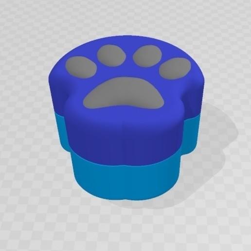 Download free STL file Dog Paw Case Box • 3D printer template, bellavistanicola