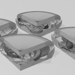 Télécharger objet 3D FOOD SANDWICH FAST HAMBURGER SAUSAGES OCTOPUS, bellavistanicola