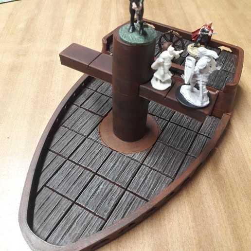 Descargar archivo STL Barco de mesa (efecto madera) para mazmorras de escenario y dragones • Diseño para la impresora 3D, bellavistanicola