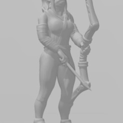 Download 3D print files Female Ranger Tabletop D&D miniature, bellavistanicola