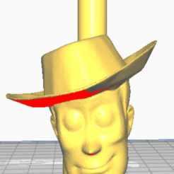 woddy solo cabeza boquilla.png Download STL file shisha woody toy story mouthpiece • 3D print template, javiialcazar