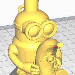 bob platano con minion robot.png Download STL file minion bob platano nozzle • 3D printable object, javiialcazar