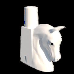 render 1.png Download STL file Horse Mouthpiece • 3D printable design, lopezindustries