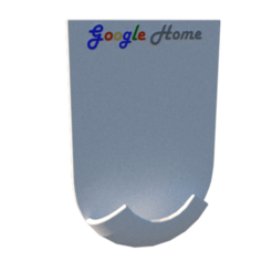 1.png Download STL file Google Home mini wall mount • 3D print template, lopezindustries