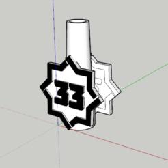 33.PNG Download STL file Nozzle 33 • 3D printer object, lopezindustries