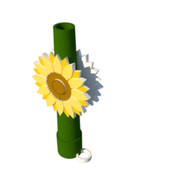 Girasol.png Download STL file Sunflower Long Nozzle • 3D printer template, lopezindustries