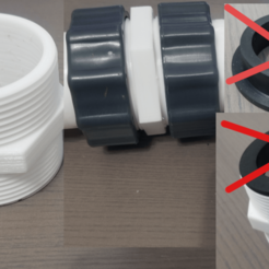 Download STL file Pool pump Hose 1.5 Inch dual male hose connector above ground pools Pool Hose Adapter • 3D printer template, PeskyLittleProblems