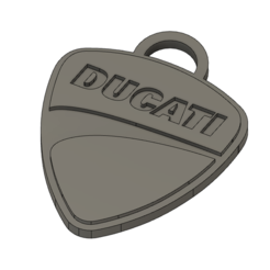Download 3D printing designs Ducati key ring, dagarna3
