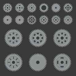 Download 3D printer model Pack of 22 Gears, FinBass