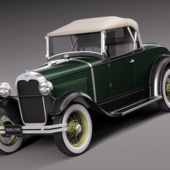 Download free 3D printing designs Ford Model A, homercow3