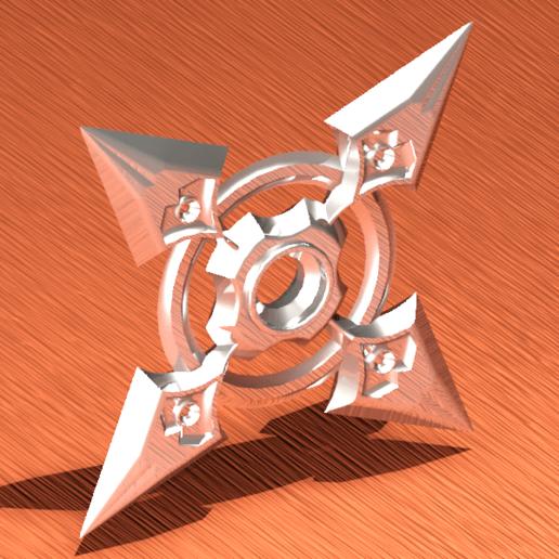 shuriken 3d-Temp0016.png Télécharger fichier STL gratuit LA LOURDE CORNEILLE • Design pour imprimante 3D, sergioalbertoortizbarajas