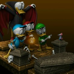 final4.jpg Download STL file Diorama Donald Dracula Huey Dewey e Louie  • 3D printer template, gmeyer3d