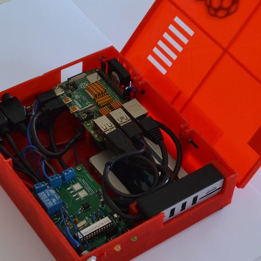 xpi_021.jpg Download STL file Raspberry Pi 4 case XPI • 3D printing template, Steenberg