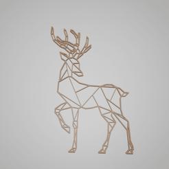 reindeer.png Télécharger fichier STL Faible poly riendeer • Design pour imprimante 3D, tmakeroo