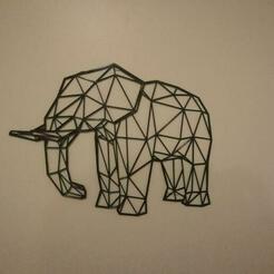 resize-low-poly-elephant-print.jpg Télécharger fichier STL Eléphant à faible polyvalence • Modèle pour impression 3D, tmakeroo