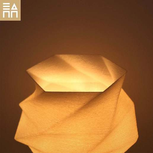 WGS_Deatail_Light_On_.jpg Download free STL file Flowing Desk Lamp • 3D print object, 3DPrintProjectAthens